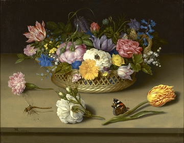 "Image Credit: ""Flower Still Life,"" 1614, oil on copper. Ambrosius Bosschaert the Elder [Dutch, 1573 - 1621]. Digital image courtesy of the Getty's Open Content Program."